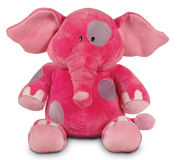 Pink funny elephant Stock Photos