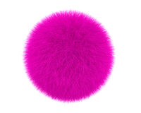 Pink fur ball Royalty Free Stock Images