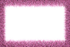 Pink fur frame with clipping path Stock Photo