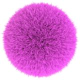 Pink fur sphere Royalty Free Stock Images