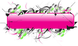Pink future. This image is a futuristic text area for your business Stock Photos