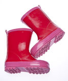 Pink Galoshes Stock Photos