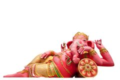 Pink ganecha statue Royalty Free Stock Photo
