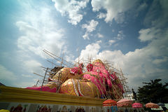 Pink Ganesh Hindu God Statue. Pink Statue of Ganesh (Elephant Headed) Hindu God the lord of good fortune who provides prosperity and success at wat Saman Stock Images