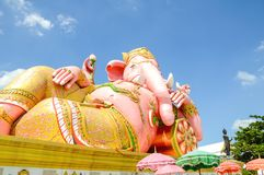 Pink Ganesh statue Royalty Free Stock Images