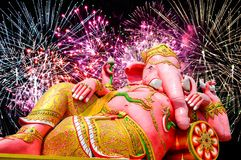 Pink ganesh statue Royalty Free Stock Photos