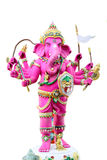 Pink Ganesh in the temple. Stock Photo