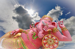 Pink ganesha. List of Buddhist temples in Thailand Stock Photos