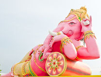 Pink ganesha statue Stock Photo