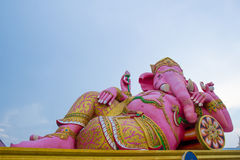 Pink Ganesha Statue at Saman Rattanaram Temple, Chachoengsao, Th Stock Photos
