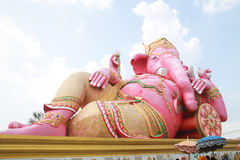 Pink ganesha statue wat Samarn Stock Images