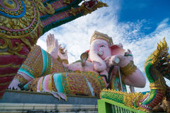 Pink ganesha statue Royalty Free Stock Images
