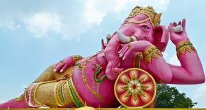 Pink Ganesha in Thailand. Pink Ganesha,Thai Temple,Saman Rattana Ram Temple Chachoengsao in Thai Stock Photography