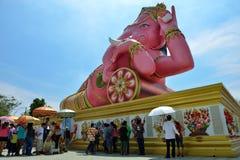 Pink Ganesha. In Wat Saman Rattanaram Temple in Chachoengsao, Thailand Royalty Free Stock Photos