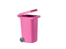 Pink garbage container Royalty Free Stock Photography