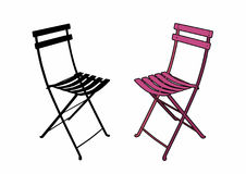 Pink garden chair. Vector illustration of a garden furniture, file EPS 10 Stock Illustration