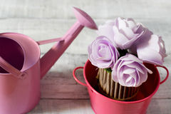 Pink gardening concept Royalty Free Stock Images