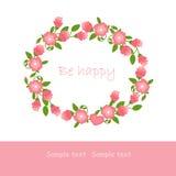 Pink garland Stock Image