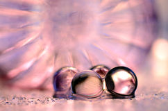 Pink gel marbles Stock Photo