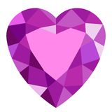 Pink gemstone heart. Royalty Free Stock Photography