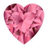 Pink gemstone heart. Stock Photo