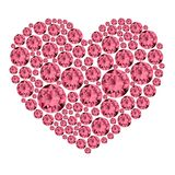 Pink gemstone heart. Royalty Free Stock Photo