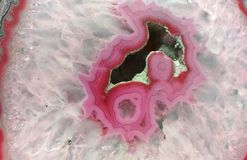 Pink Geode Slice royalty free stock images