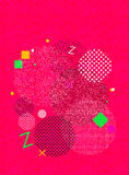 Pink geometric abstract background Stock Images