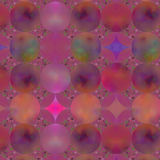 Pink Geometric Background. An abstract background fractal done in shades of pink with a circular motif Stock Image