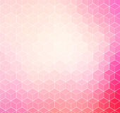 Pink geometric background with white outline Stock Image