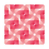 Pink geometric flower pattern Stock Images