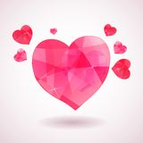 Pink geometric heart Royalty Free Stock Photos