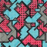 Pink geometric seamless pattern Stock Photo
