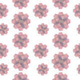 Pink Geometric Shapes Texture. Pink geometric shapes seamless texture Royalty Free Stock Images
