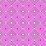 Pink geometric squares dizzy seamless pattern Stock Photo