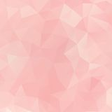 Pink Geometric triangle Background. Vector. Abstract soft pink colored polygonal  triangular geometric background Royalty Free Stock Photography