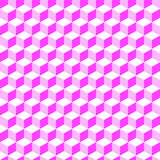 Pink Geometric Volume Seamless Pattern Background 001 Royalty Free Stock Photo