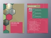 Pink geometry design element flyer template Stock Photos