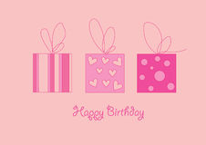 Pink gift Stock Photography