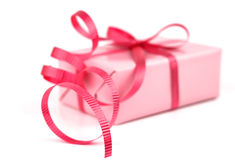 Pink gift Royalty Free Stock Photography