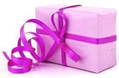 Pink gift Stock Images