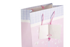 Pink gift bag Stock Photography