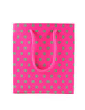 Pink gift bag. For a birthday or other special occasion - isolated Royalty Free Stock Photos