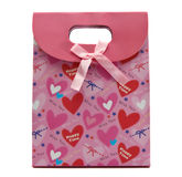 Pink gift bag. Isolate on white Royalty Free Stock Image