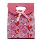 Pink gift bag Royalty Free Stock Image