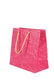 Pink gift bag isolated on white. Royalty Free Stock Image