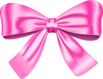 Pink gift bow Royalty Free Stock Photo