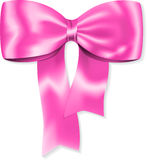 Pink gift bow Royalty Free Stock Image