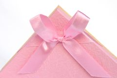 Pink gift bow Royalty Free Stock Photography