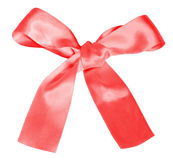 Pink gift bow isolated on white Stock Photo